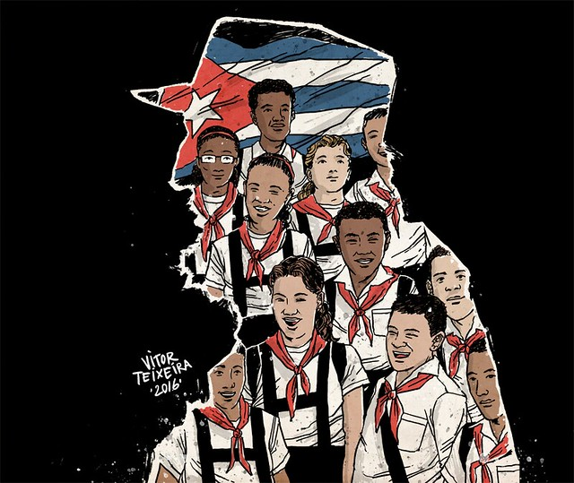 """""""Esta noite milhões de crianças dormirão na rua. Nenhuma delas é cubana"""" - Créditos: Vitor Teixeira"""
