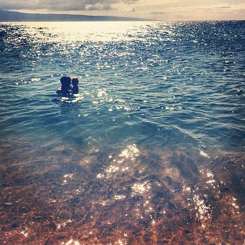 Taking a dip, Maui