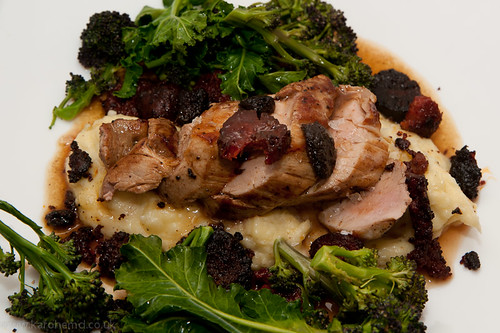 Pork tenderloin, Chorizo, Morcilla