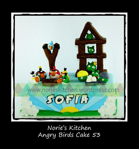 Norie's Kitchen - Angry Birds Cake 53 by Norie's Kitchen