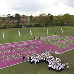 School Children Create Giant Human London 2012 Logo