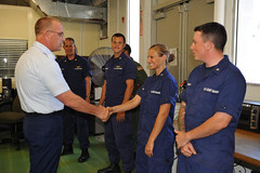 Meeting with Coast Guardsmen