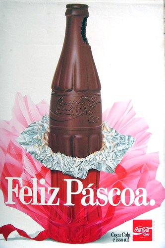 1980s Coca-Cola Chocolat Bottle Pascoa - Easter Brazillian ad by roitberg