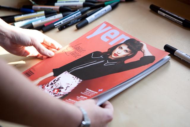 Pompom garland en Yen magazine (Australia)