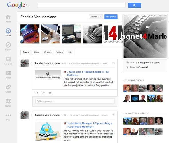 Google Plus New Look