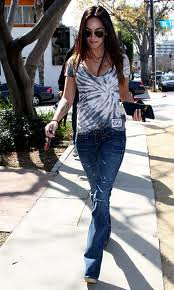 Megan Fox Tie Dye Top Celebrity Style Women's Fashion