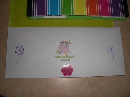 Back side of Gemma's Letter