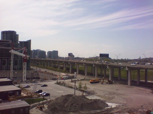 Looking west at the Gardiner Expressway, May 2012