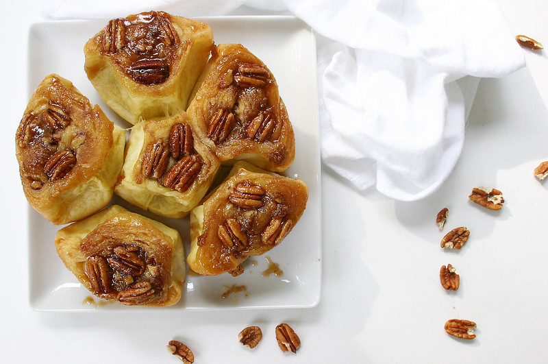 sticky buns white rectangle
