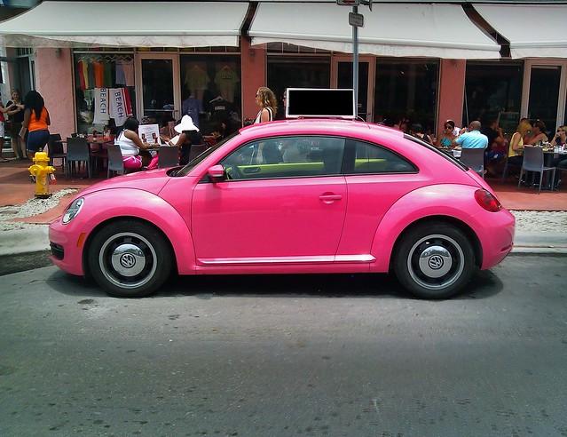 pink vw beetle flickr photo sharing. Black Bedroom Furniture Sets. Home Design Ideas