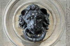 carving, art, gargoyle, sculpture, door knocker, stone carving,