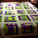 Purple + Green log cabin quilt