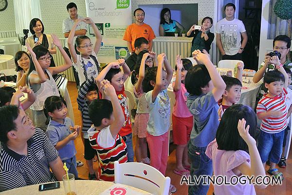 The kids having fun