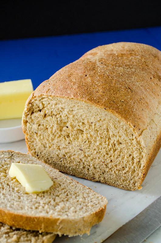 Fluffy 100% Whole Wheat Bread