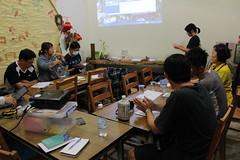 五溝溼地學校開課,吸引十幾位當地與附近民眾前來聽課。