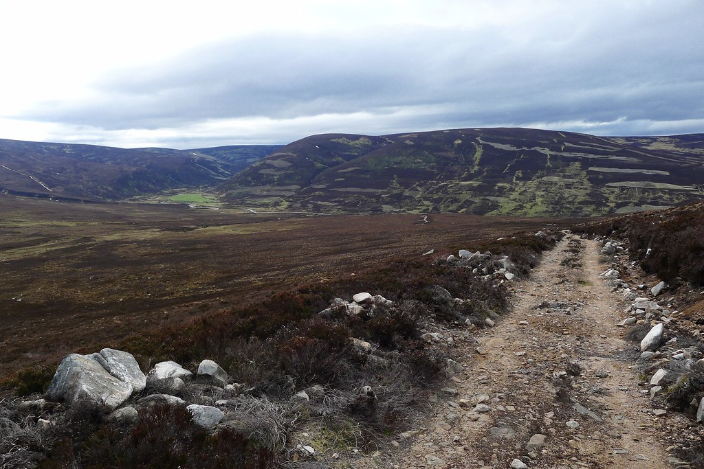 Track leading east from Glen Tanar