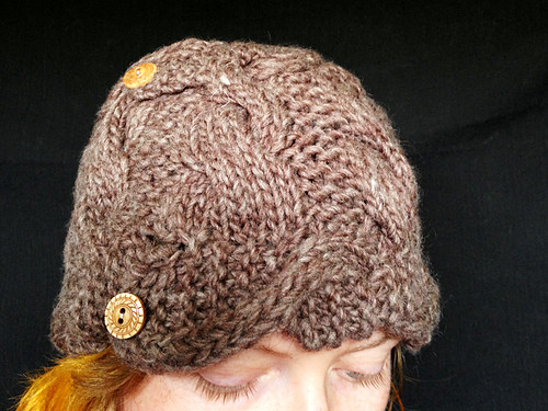 Brown squish hat