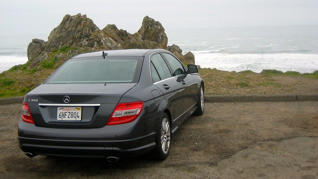 Mercedez-Benz C300 on Highway 1