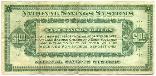 National Savings Systems One Dollar back