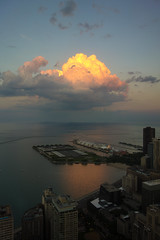 Navy Pier Chicago with clouds by doug.siefken