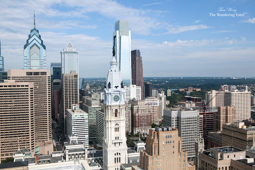 The view from the 33rd Floor of Loews Philadelphia (formerly the Philadelphia Savings Fund Society building)
