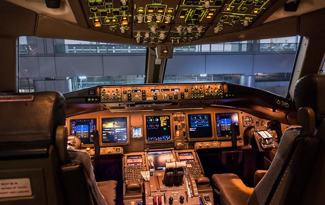 Cathay 777-300ER Cockpit