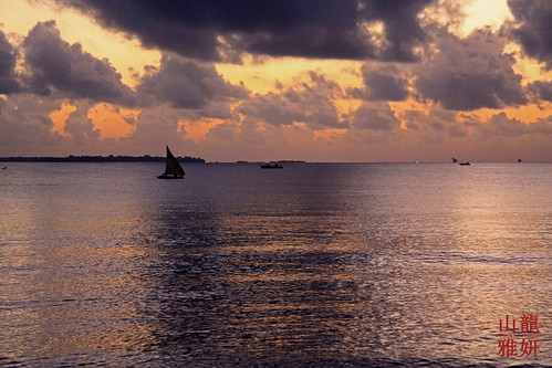 africa sunset tanzania boat sailing daressalaam tropicalbeach kigamboni sunrisebeachresort