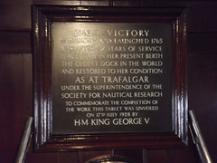 Photo of George V and Victory black plaque