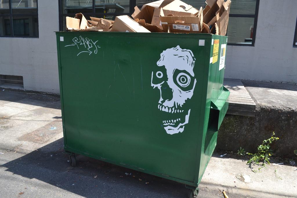 AR REX, RX, Street Art, Sticker, Portland