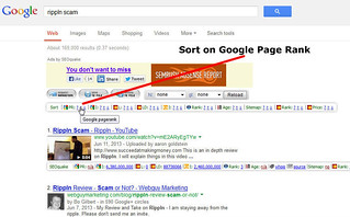 Sorting on Google Page Rank