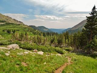 Descending from King Lake