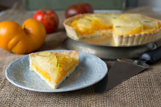 Yellow Tomato and Goat Cheese Tart