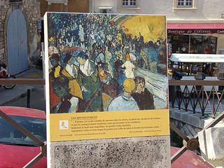 102 bord met schilderij van de arena