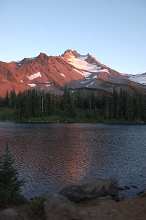 Mount Jefferson at dusk
