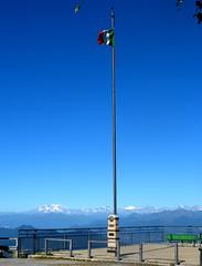 Lanzo d'Intelvi balcone d'Italia, sullo sfondo il Monterosa - Settembre 2013