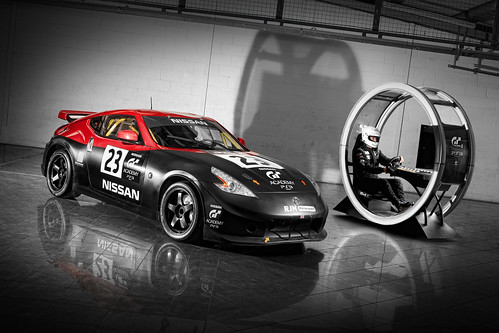 Nissan 307Z with gaming pod