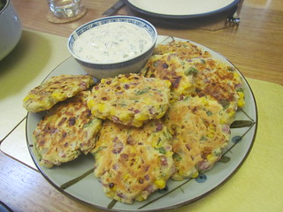 Corn Fritters with Tartar Sauce