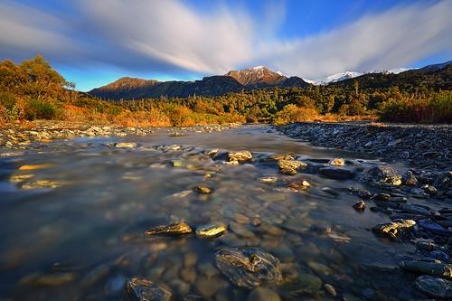 morning newzealand mountains creek sunrise river nikon stream day cloudy delta lee wakatipu queenstwon bigstopper ariefrasa