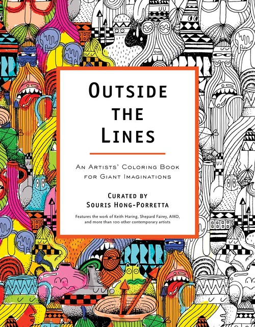 Outside the Lines artist coloring book by Souris Hong-Porretta