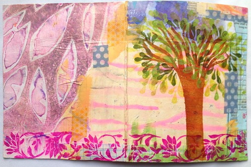 Small Art Journal Series-Outside Cover before binding