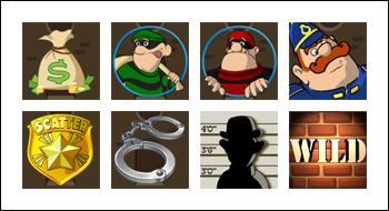 free Cops and Bandits slot game symbols