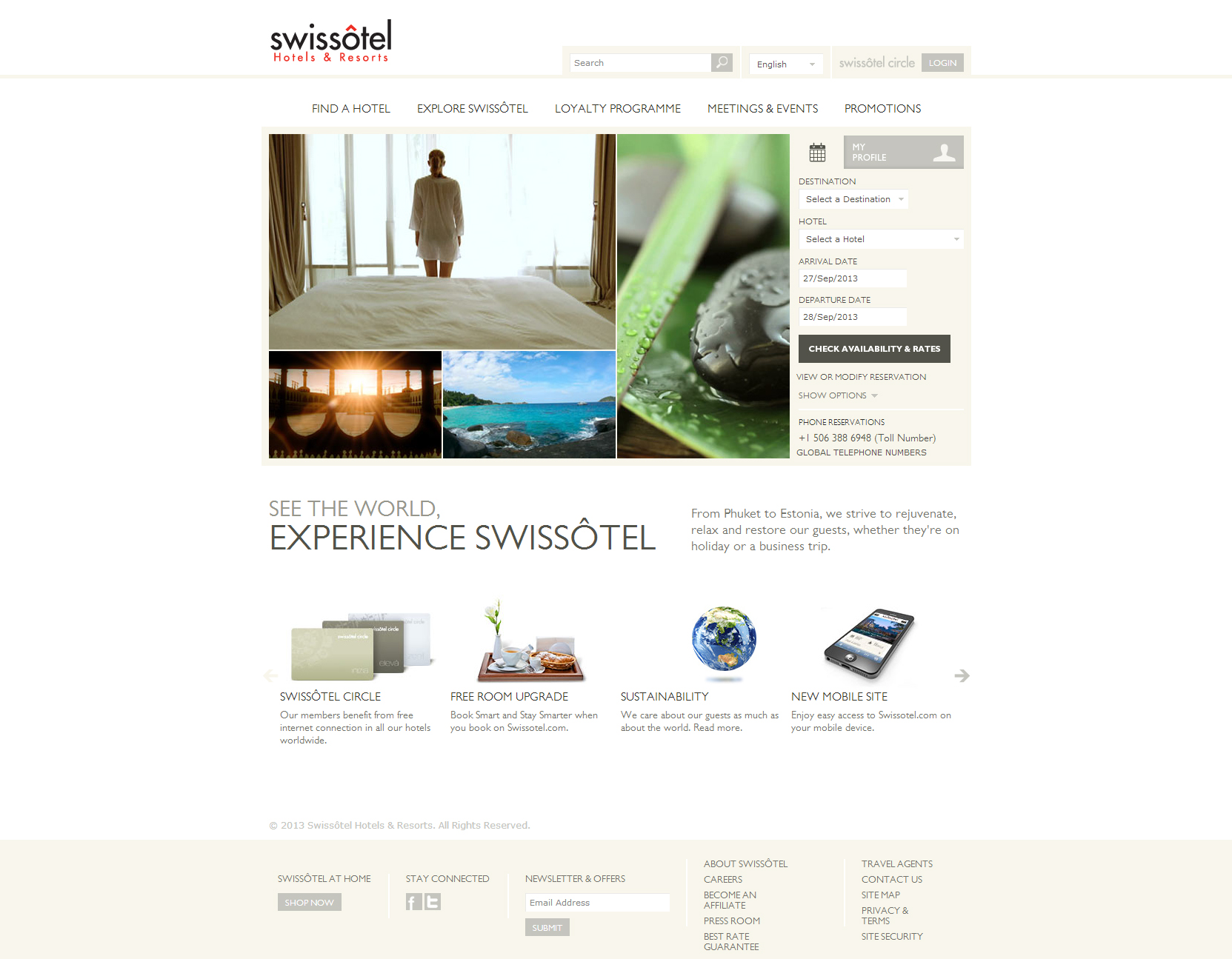 Website Inspiration - Swissotel