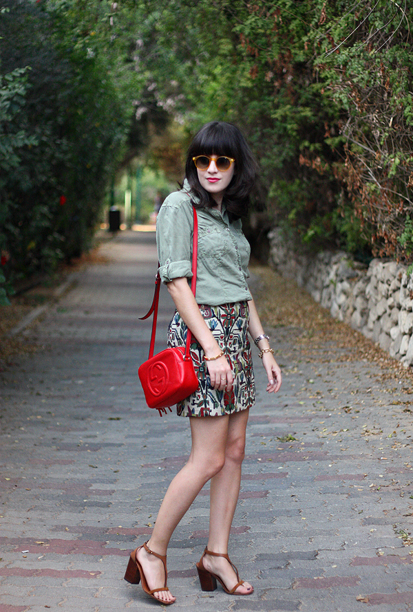 בלוג אופנה, תיק גוצ'י, army shirt, isaeli fashion blog, gucci disco bag, celine sandals, סלין