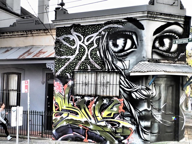 Eyes on Passersby - Street art in Newtown, Sydney