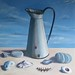 Old Enamel Jug and Things from the Sea by lostartist- Tim Burns Art