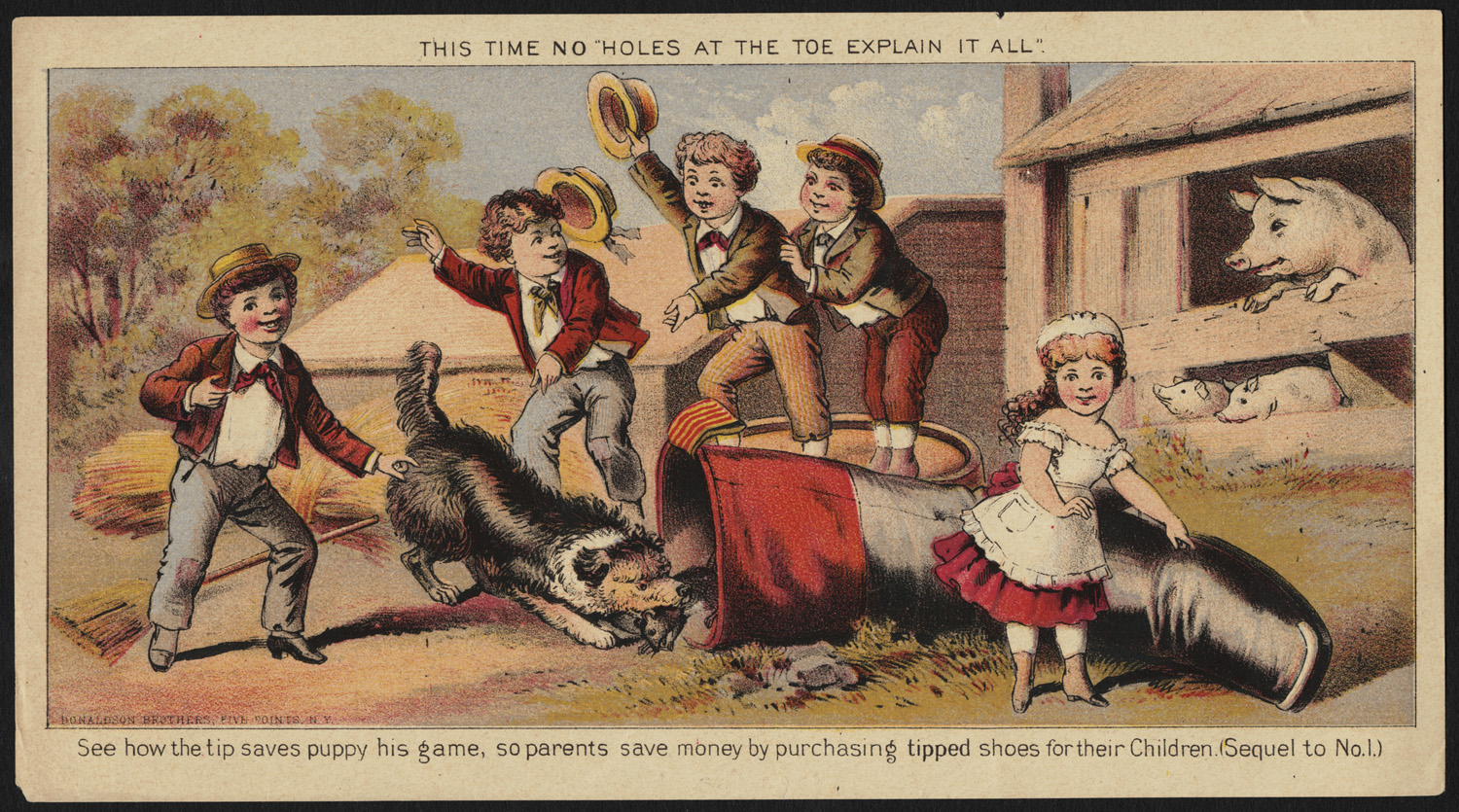 puppy, postcard, antique, shoe, tipped shoe, cobbler, children, rat