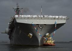 USS Boxer (LHD 4) transits San Diego Bay, April 25. (U.S. Navy/MC3 Derek A. Harkins)