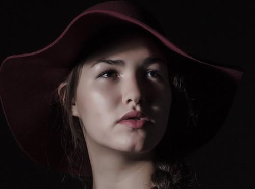 modell rina modellfoto på kurs