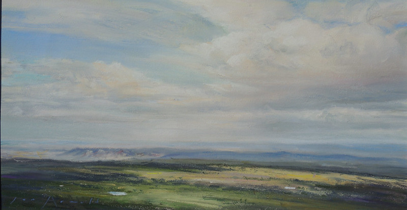 Pastel | 9 1/2 x 17 1/2 inches | Available | Notes: I have most often done the view looking south, which is quite dramatic. I did this view looking east as a study for a large mural.
