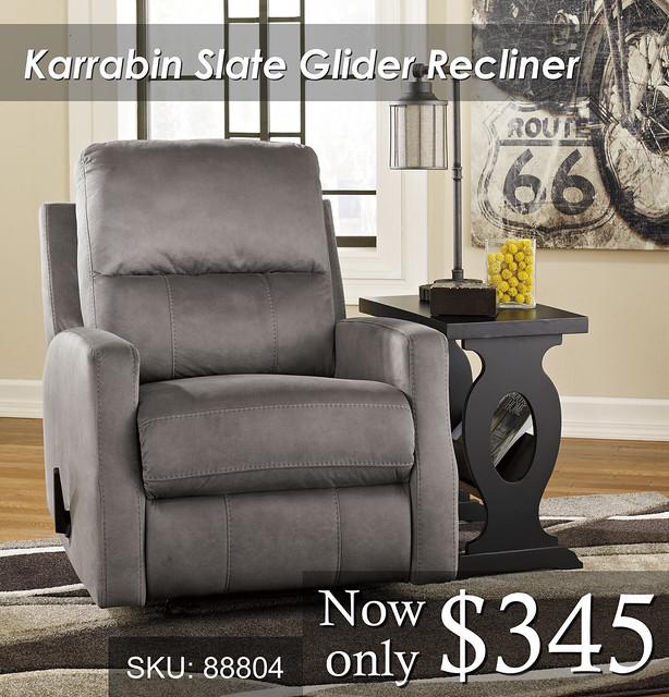 Karrabin Glider Slate Recliner